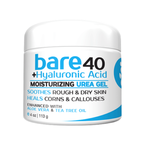 Bare hyaluronic acid urea gel